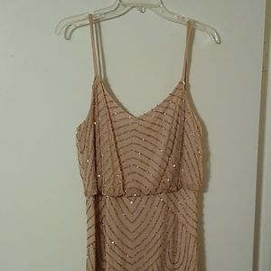 Adrianna Papell Gold Evening Gown